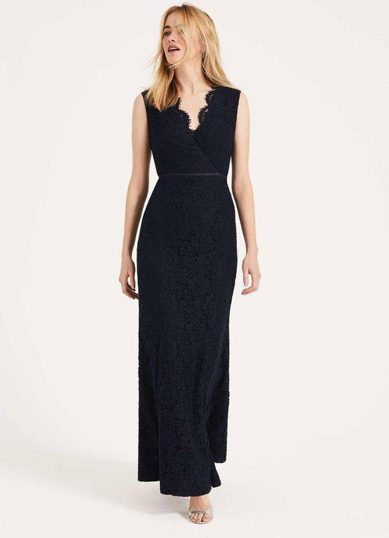 Phase Eight Paola Lace Fishtail Dress - Blue - Phase Eight Dresses
