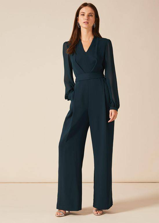Phase Eight Audrey Jumpsuit - Blue - Phase Eight Jumpsuits