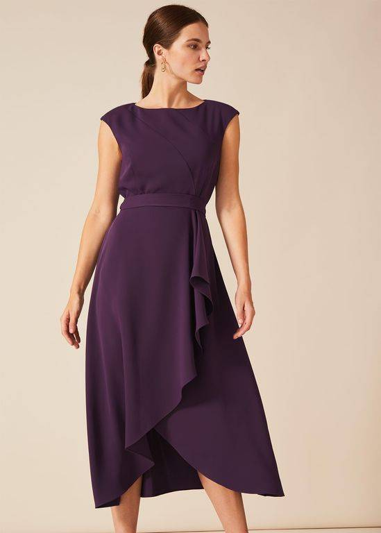 Phase Eight Rushelle Dress - Purple - Phase Eight Dresses