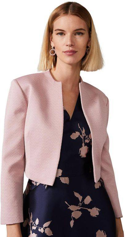 Phase Eight Ballet Pink Karlee Textured Jacket - Pink - Phase Eight Jackets