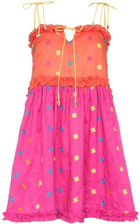 All Things Mochi Nia Floral-embroidered Dress - Pink - All Things Mochi Dresses