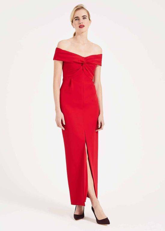 Phase Eight Marcelina Twist Maxi Dress - Red - Phase Eight Dresses