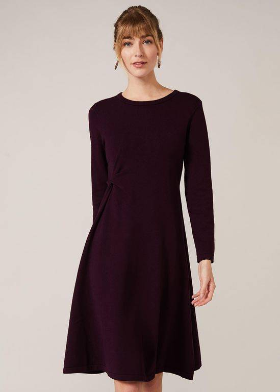Phase Eight Maeva Fit And Flare Dress - Purple - Phase Eight Dresses