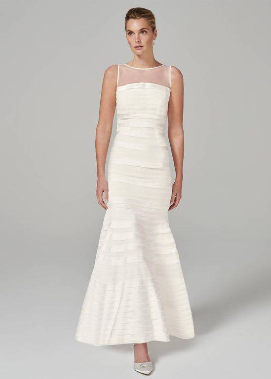 Phase Eight Shannon Layered Wedding Dress - White - Phase Eight Dresses