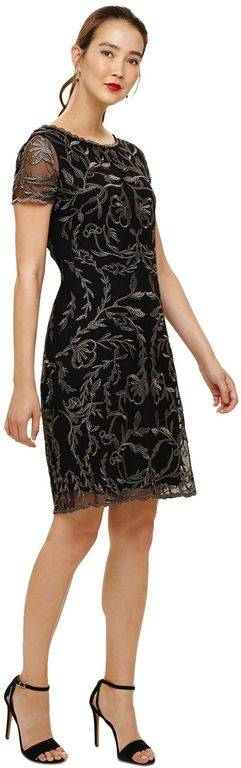 Phase Eight And Gunmetal Alannah Embroidered Mesh Dress - Black - Phase Eight Dresses