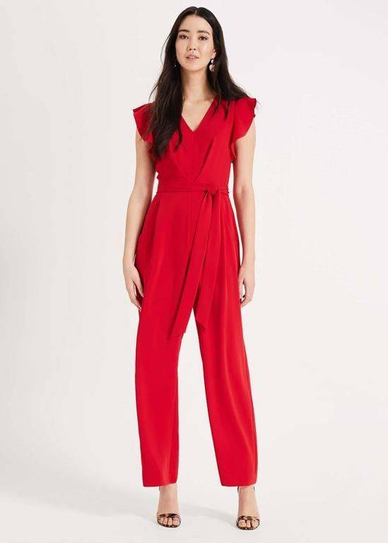 Phase Eight Victoriana Jumpsuit - Red - Phase Eight Jumpsuits