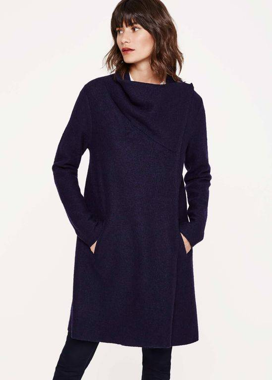 Phase Eight Bellona Level Hem Knit Coat - Blue - Phase Eight Coats