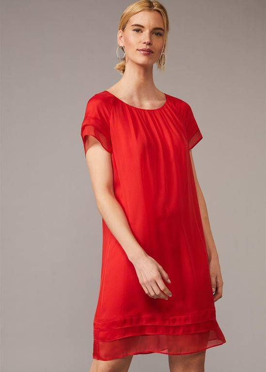 Phase Eight Freesia Silk Dress - Red - Phase Eight Dresses