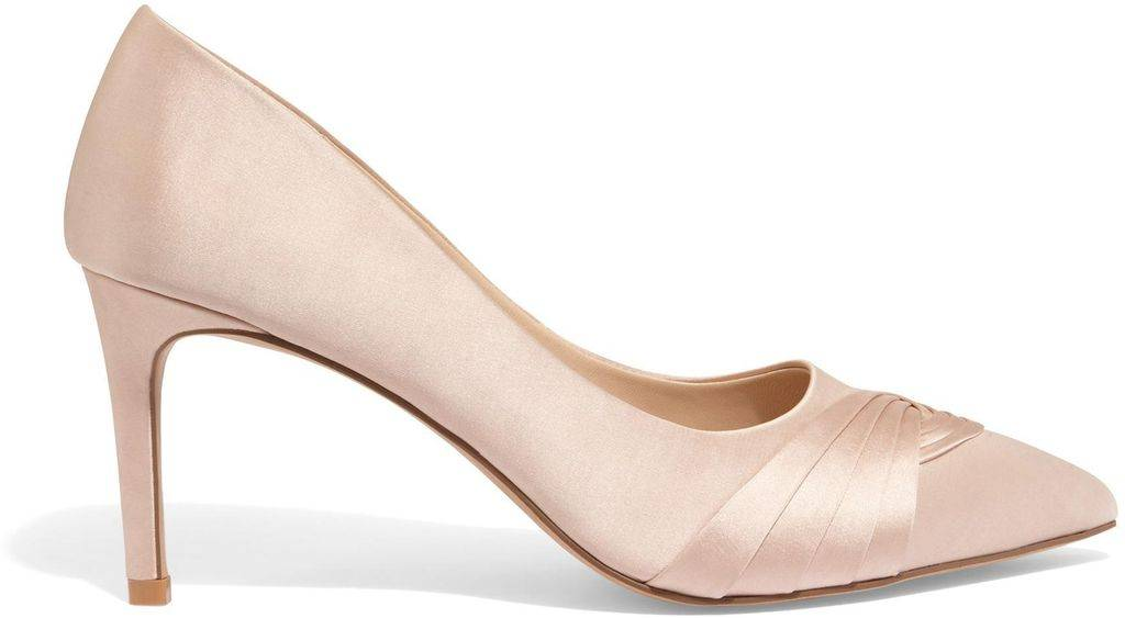 Phase Eight Rosie Satin Court Shoes - Pink - Phase Eight Heels