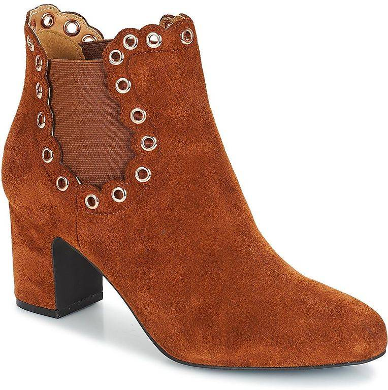 André Alessia Low Ankle Boots - Brown - André Boots