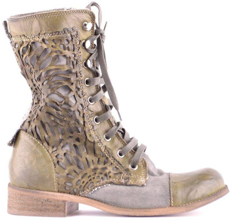 Candice Cooper Green Suede Ankle Boots - Green - Candice Cooper Boots