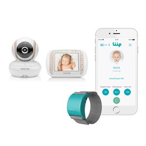 Liip Motorola MBP35XLC 3.5″ Video Baby Monitor & Liip Smart Baby Monitor Bracelet