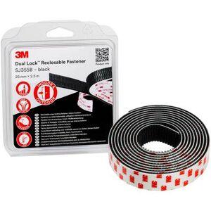 3M Dual Lock Hook-and-loop tape stick-on (L x W) 2.5 m x 25 mm Black 1 pc(s)