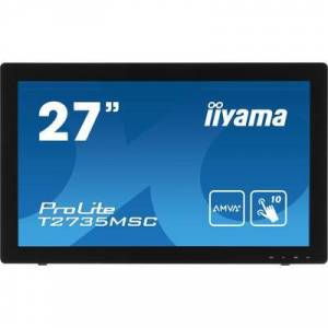 Iiyama ProLite T2735MSC Touchscreen EEC: B (A+++ - D) 68.6 cm (27 inch) 1920 x 1080 p 16:9 5 ms VGA, DVI, HDMI™, USB 3.0 AMVA+ LED
