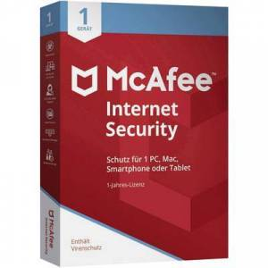 McAfee Internet Security 1 Device (Code in a Box) 2020 Full version, 1 license Windows, Mac OS, Android, iOS Antivirus, Security