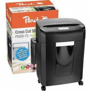Peach PS500-75 Document shredder Particle cut 4 x 35 mm 16 l No. of pages (max.): 15 Safety level (document shredder) 4