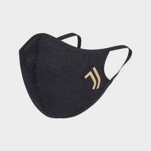 adidas Juventus Face Covers 3-Pack XS/S Unisex Black / Matte Gold (1 Size)
