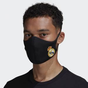 adidas Real Madrid Face Covers 3-Pack M/L Unisex Black / White / White (1 Size)