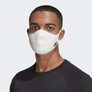 adidas Face Covers 3-Pack M/L Unisex White / White / White (1 Size)
