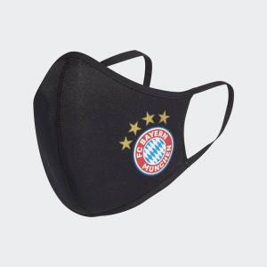 adidas FC Bayern Face Covers 3-Pack XS/S Unisex Black / Fcb True Red (1 Size)