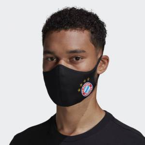 adidas FC Bayern Face Covers M/L 3-Pack FC Bayern Face Covers M/L 3-Pack  - Black / Fcb True Red [Unisex]