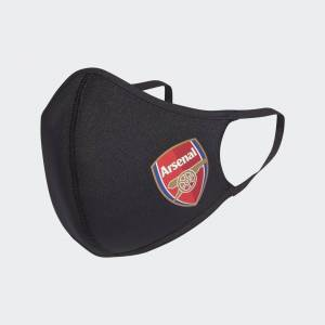 adidas Arsenal Face Covers XS/S 3-Pack Arsenal Face Covers XS/S 3-Pack  - Black / Scarlet [Unisex]