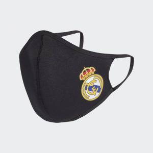 adidas Real Madrid Face Covers 3-Pack XS/S Unisex Black / White / White (1 Size)