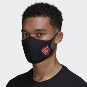 adidas Arsenal Face Covers 3-Pack M/L Unisex Black / Scarlet (1 Size)