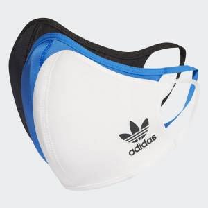 adidas Face Covers 3-Pack XS/S Unisex Multicolor / Black / White / Bluebird (1 Size)