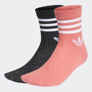 adidas Full-Glitter Mid-Cut Socks 2 Pairs Full-Glitter Mid-Cut Socks 2 Pairs  - Black / Semi Flash Red [Women]