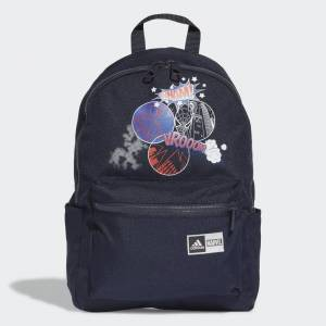adidas Spider-Man Graphic Backpack Spider-Man Graphic Backpack  - Legend Ink / Silver Metallic / White / Royal Blue [Kids]