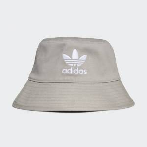 adidas Trefoil Bucket Hat Trefoil Bucket Hat  - Mgh Solid Grey / White [Unisex]