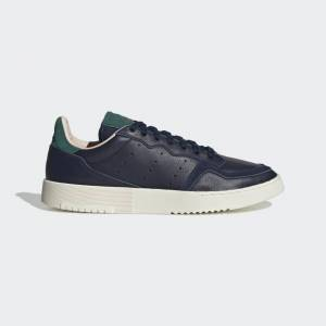 adidas Supercourt Shoes Supercourt Shoes  - Collegiate Navy / Collegiate Navy / Collegiate Green [Women]