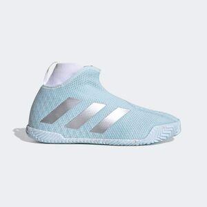 adidas Stycon laceless hard court tennis shoes Stycon laceless hard court tennis shoes  - Sky Tint / Silver Metallic / Cloud White [Women]