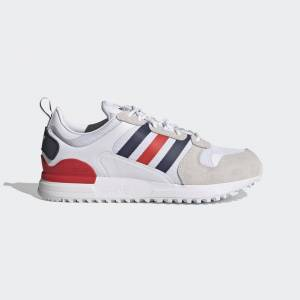 adidas ZX 700 HD Shoes ZX 700 HD Shoes  - Cloud White / Dark Blue / Red [Unisex]