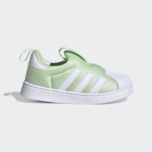 adidas Superstar 360 Shoes Superstar 360 Shoes  - Glow Green / Cloud White / Cloud White [Kids]