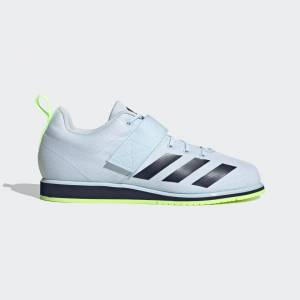 adidas Powerlift 4 Shoes Powerlift 4 Shoes  - Sky Tint / Collegiate Navy / Signal Green [Unisex]