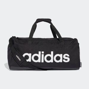 adidas Linear Duffel Bag Linear Duffel Bag  - Black / Black / White [Unisex]