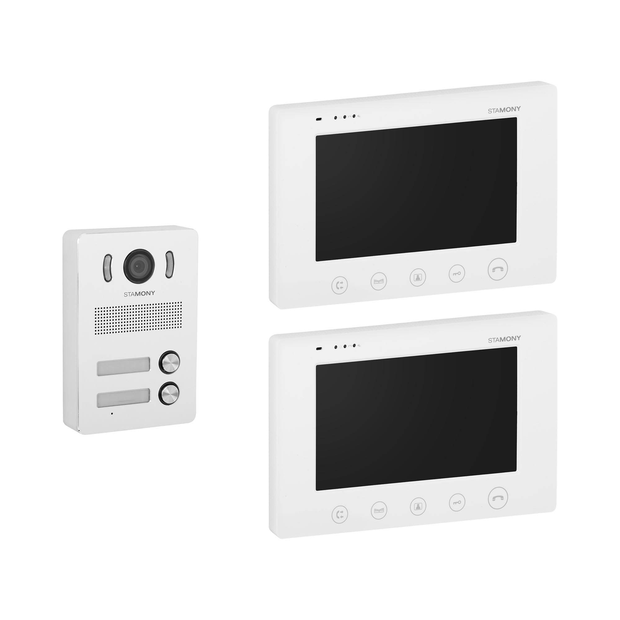 Stamony Video Intercom System - 2 monitors - 17.8 cm display ST-VP-200