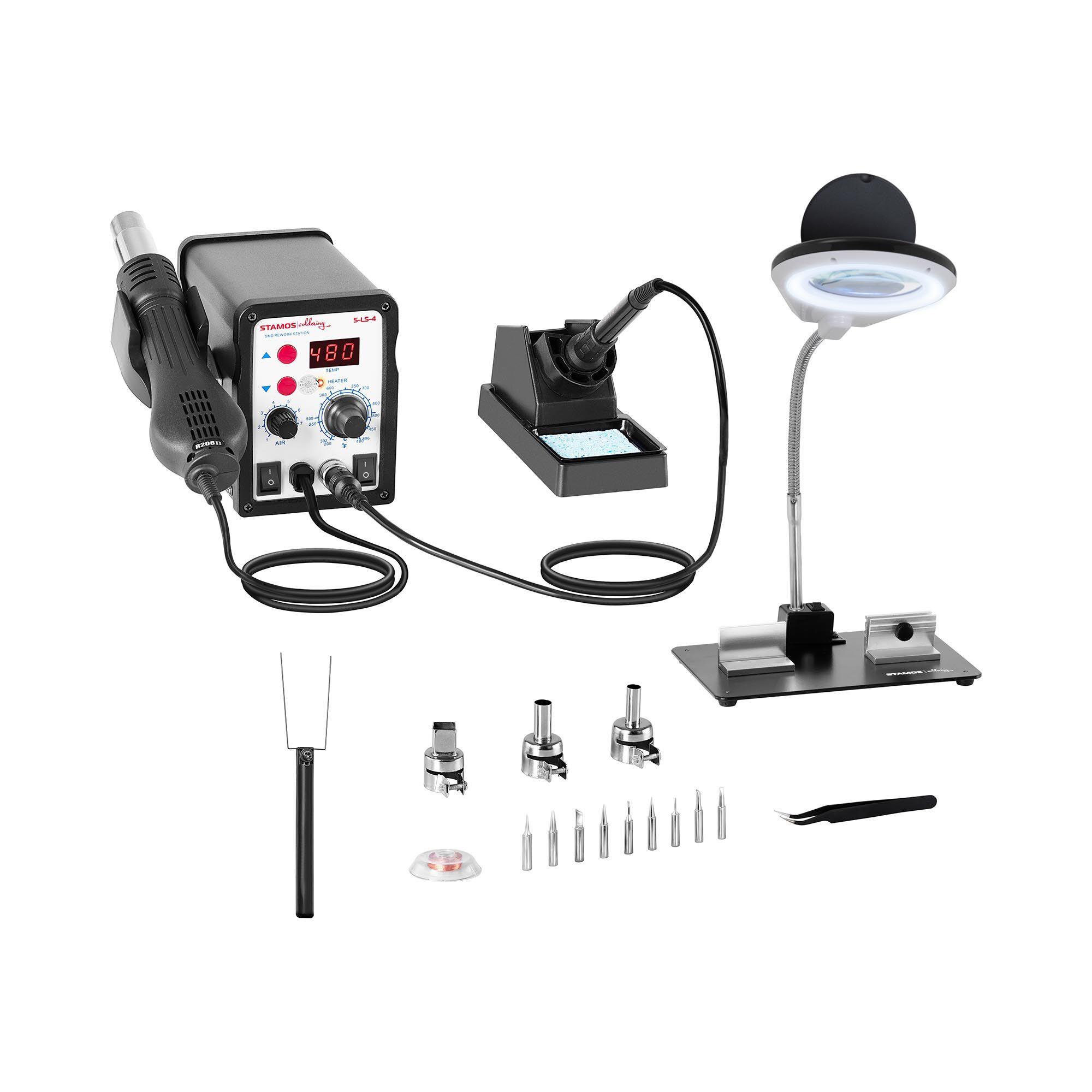 Stamos Soldering Set Soldering Station - 60 Watt - LED Display + Accessoires
