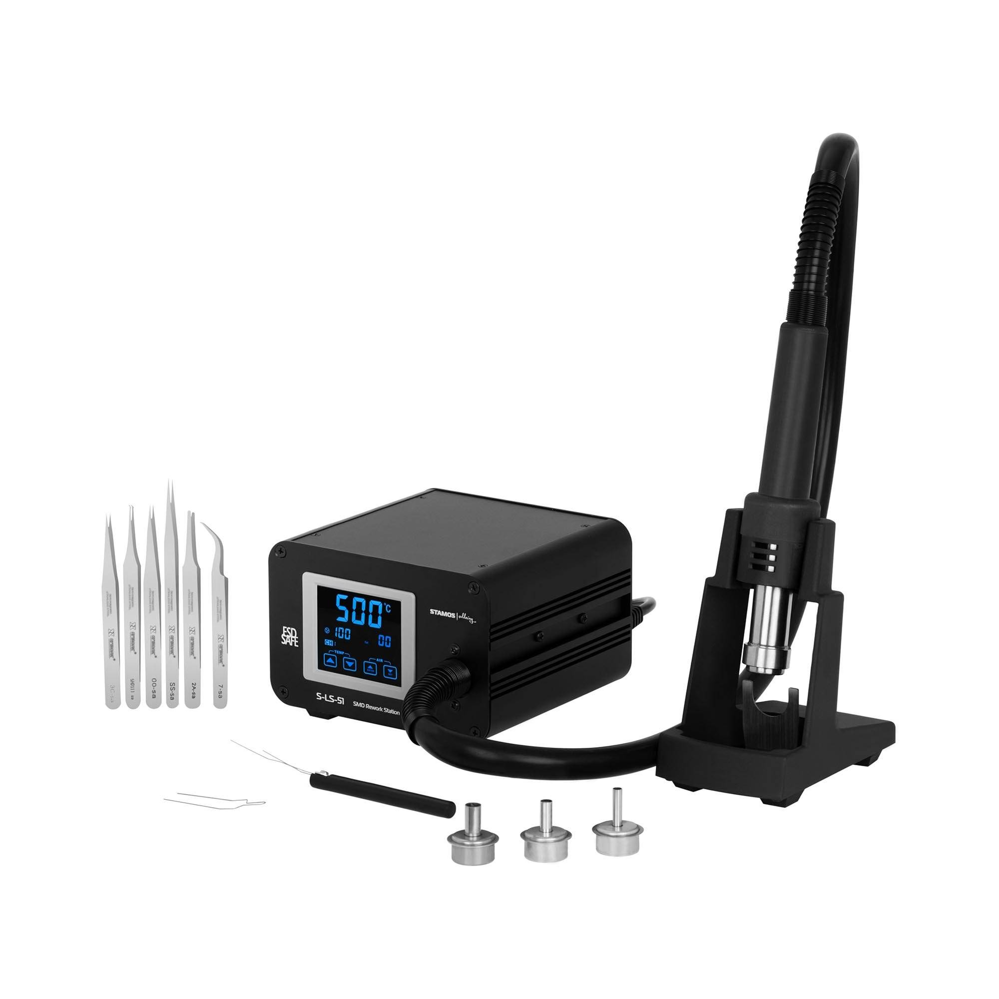Stamos Soldering Hot Air Rework Station with Hot Air Gun - LCD touch display