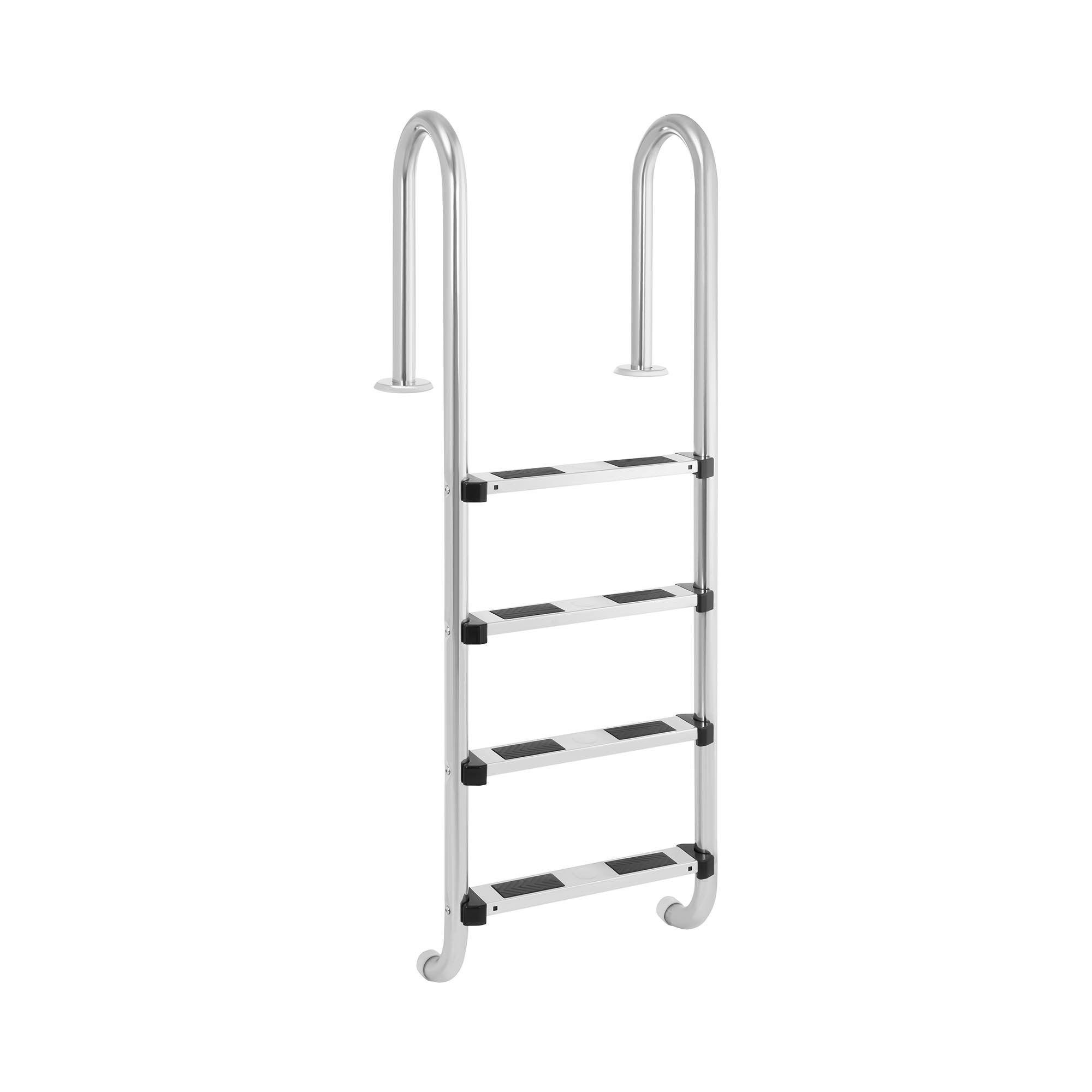 Uniprodo Pool ladder - 4 Steps - Narrow stile bow