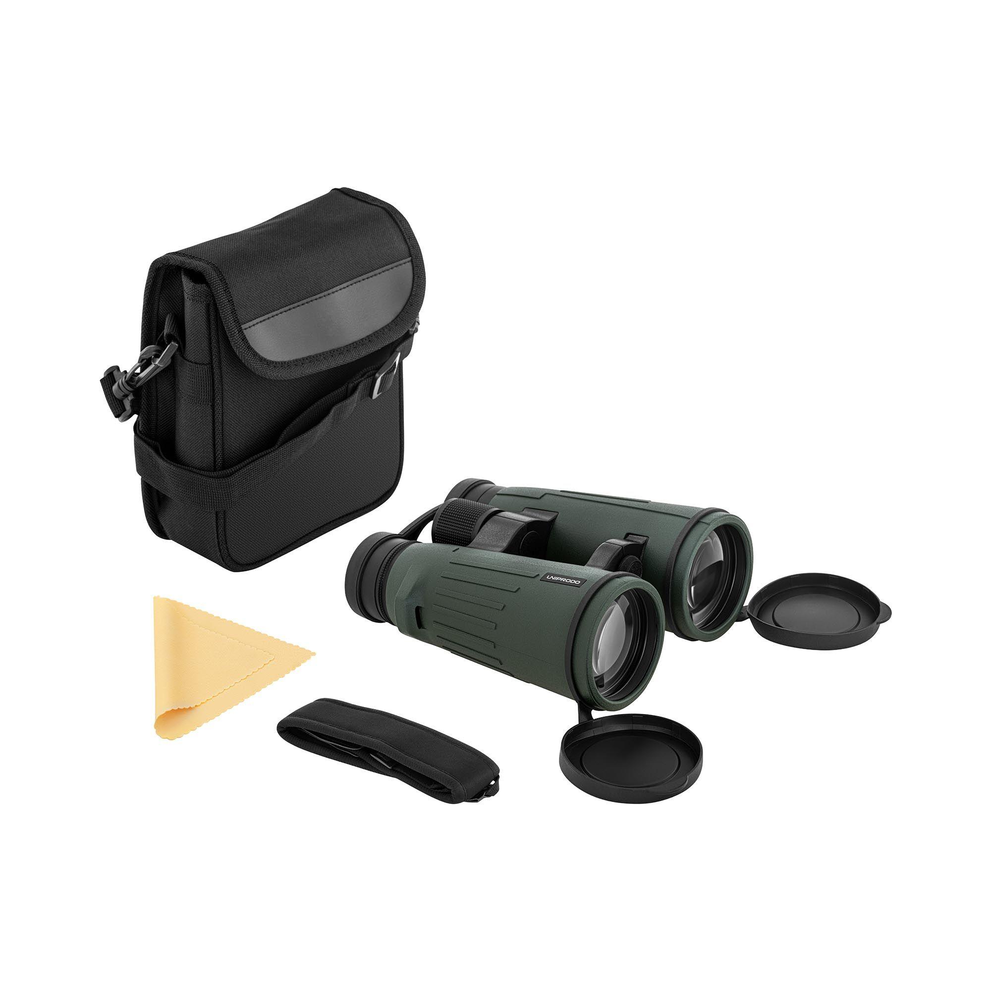 Uniprodo Binoculars - 10x56 - 6.1° - 106 m/1,000 m - BAK-4 - dielectric coating - ED glass UNI_BINOCULAR_10