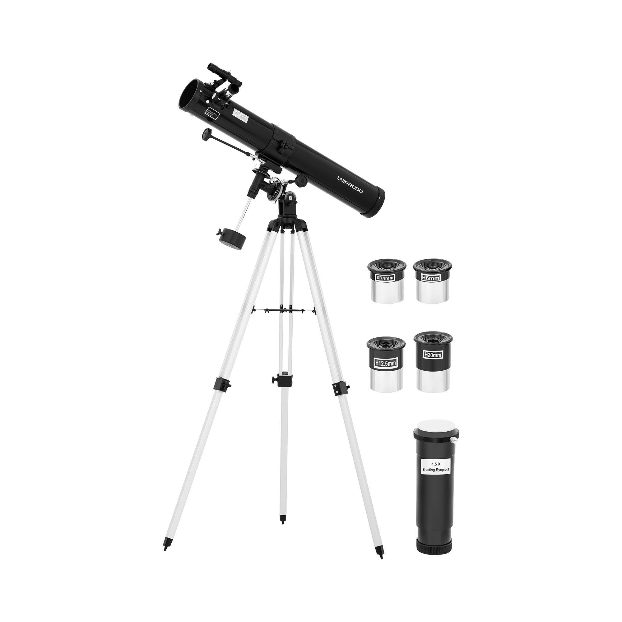 Uniprodo Telescope - Ø 76 mm - 900 mm - tripod UNI_TELESCOPE_10