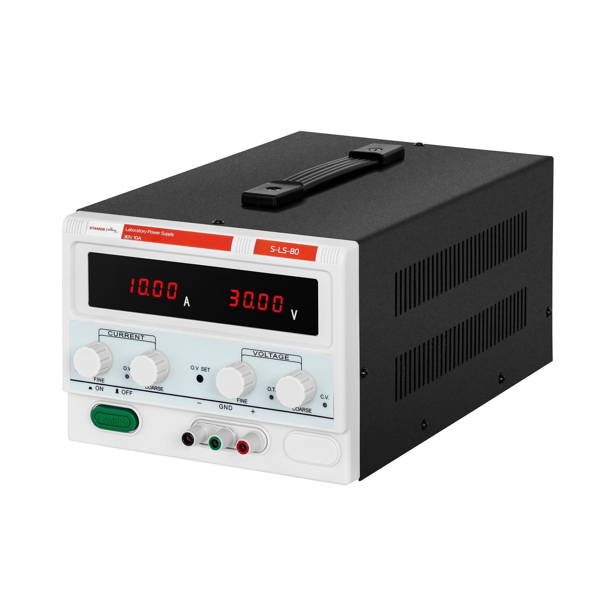 Stamos Soldering Laboratory Power Supply - 0-30 V - 0-10 A DC - 300 W