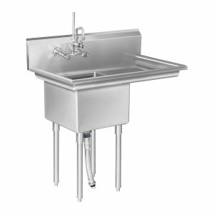 Royal Catering Commercial Commercial Sink â 1 Compartment and Right sided drainage area