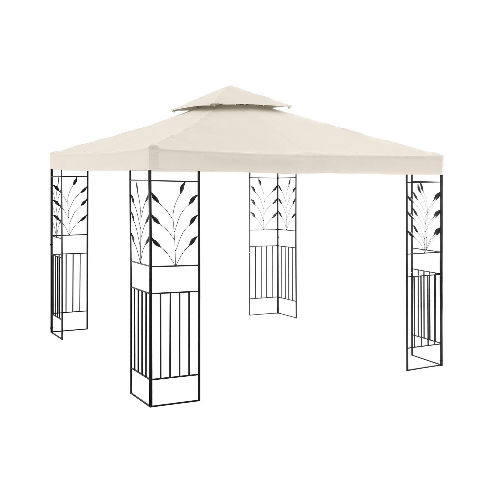 Uniprodo Garden Pavilion - 3 x 3 m - 180 g/m² - beige