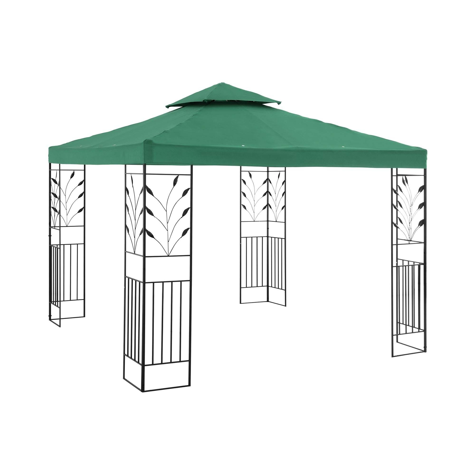 Uniprodo Garden Pavilion - 3 x 3 m - 180 g/m² - dark green