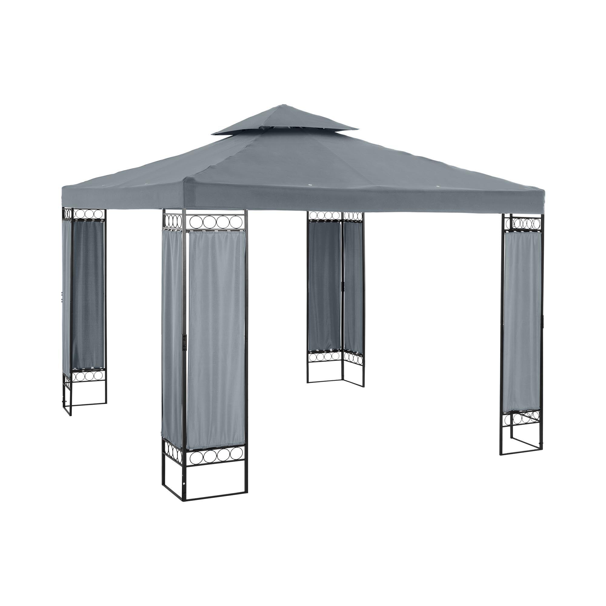 Uniprodo Patio Gazebo - 3 x 3 m - 180 g/m² - dark grey