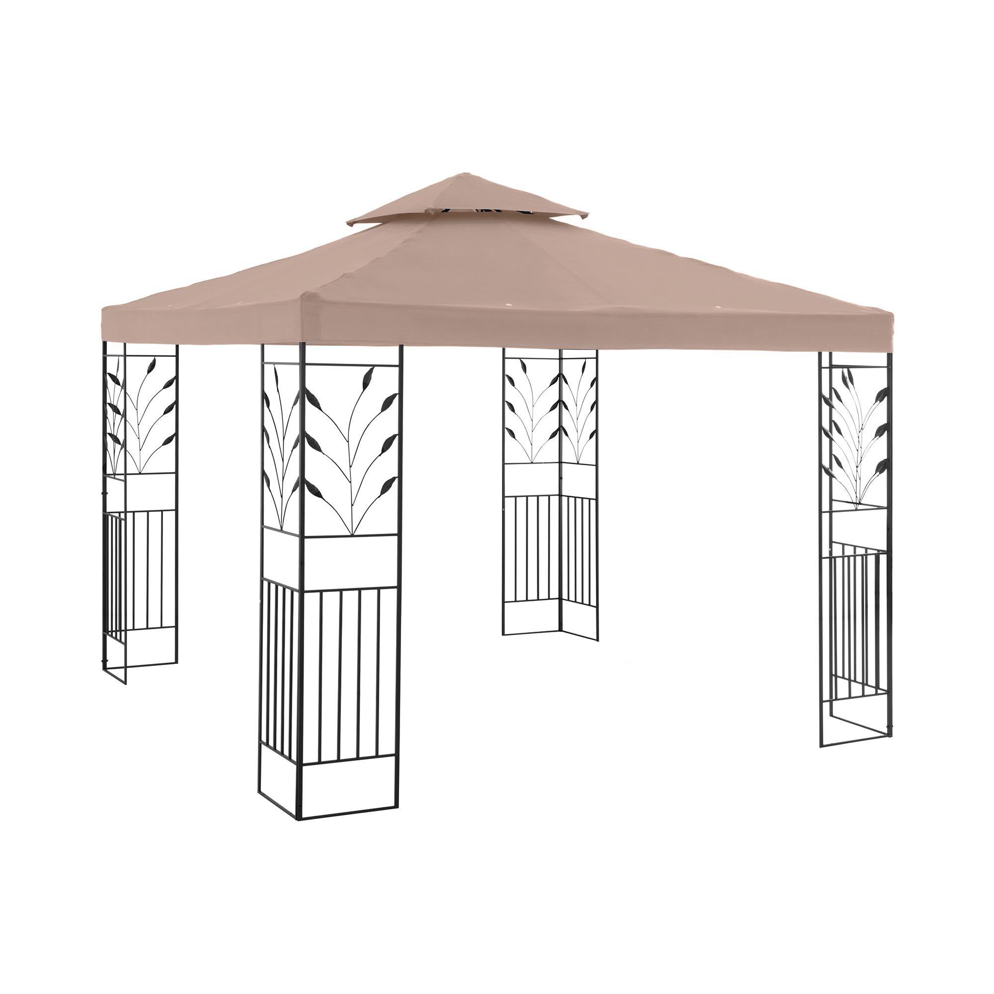 Uniprodo Garden Pavilion - 3 x 3 m - 180 g/m² - beige UNI_PERGOLA_3X3T_U